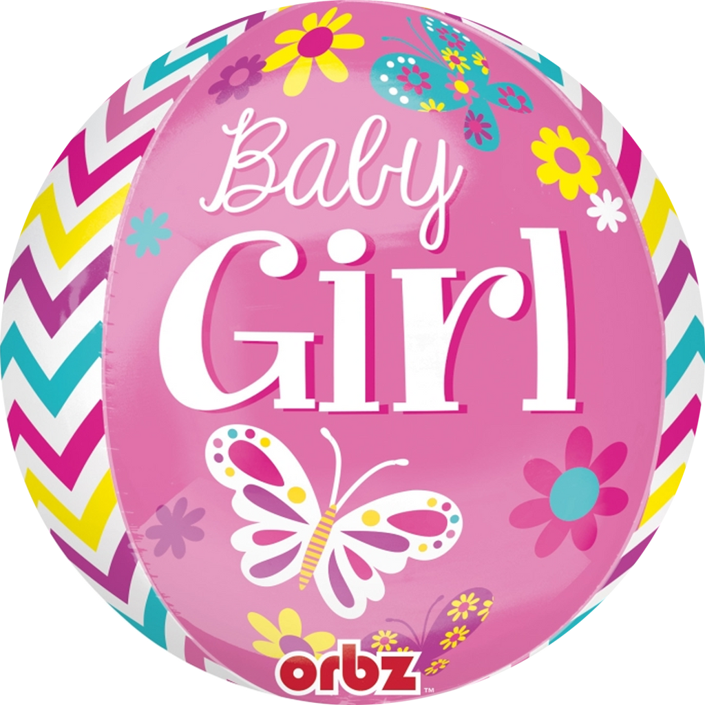 Sweet Baby Girl Balloon Orbz