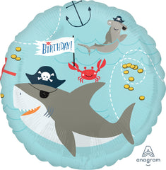 Ahoy Shark Birthday Balloon