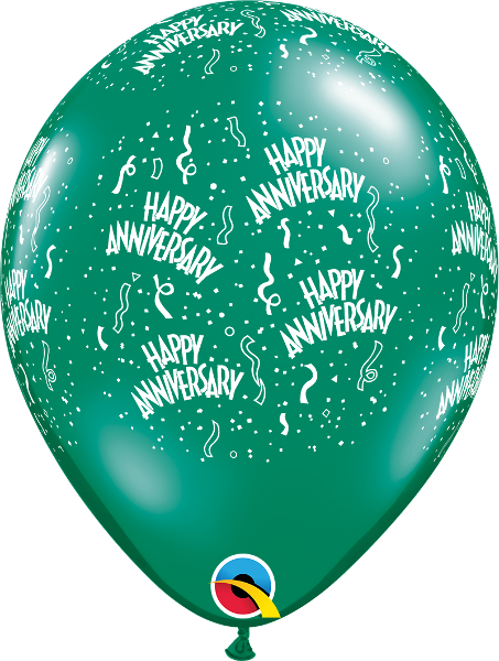 "Anniversary-A-Round Jewel Emerald Green 11"" Balloons"