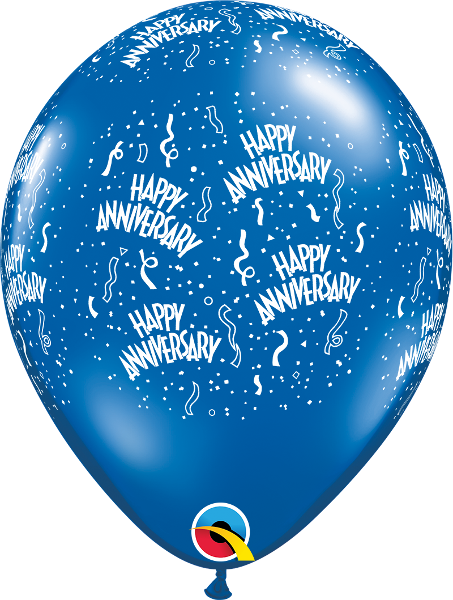 "Anniversary-A-Round Jewel Sapphire Blue 11"" Balloons"