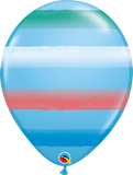 "Assorted Sprays Pale Blue 11"" Balloons"