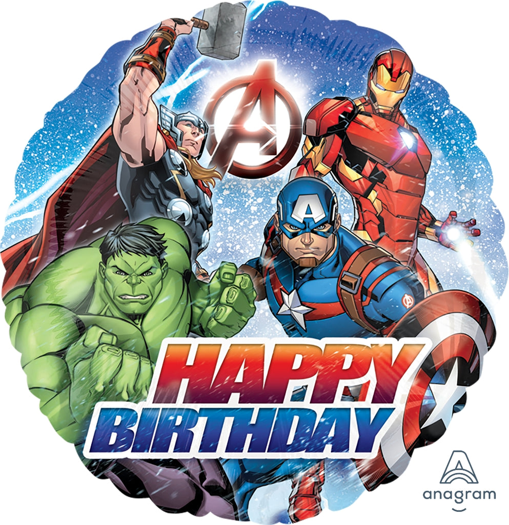 Avenger Happy Birthday Balloon