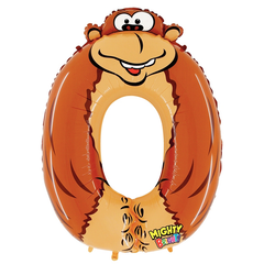 Number 0 Party Animal Zooloons Megaloon Balloon Numbers