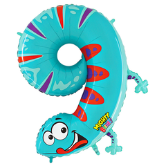 Number 9 Party Animal Zooloons Megaloon Balloon Numbers