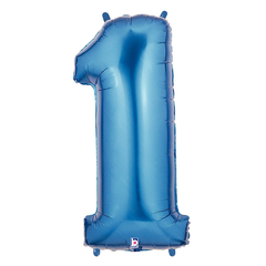 Blue Number 1 Megaloon Balloon Numbers