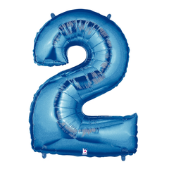 Blue Number 2 Megaloon Balloon Numbers