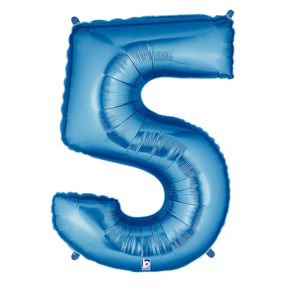 Blue Number 5 Megaloon Balloon Numbers
