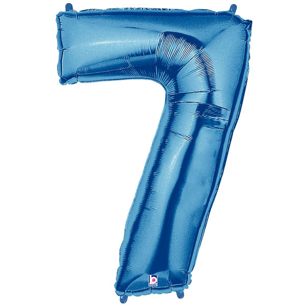 Blue Number 7 Megaloon Balloon Numbers
