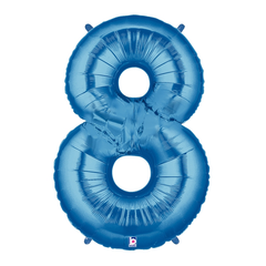 Blue Number 8 Megaloon Balloon Numbers