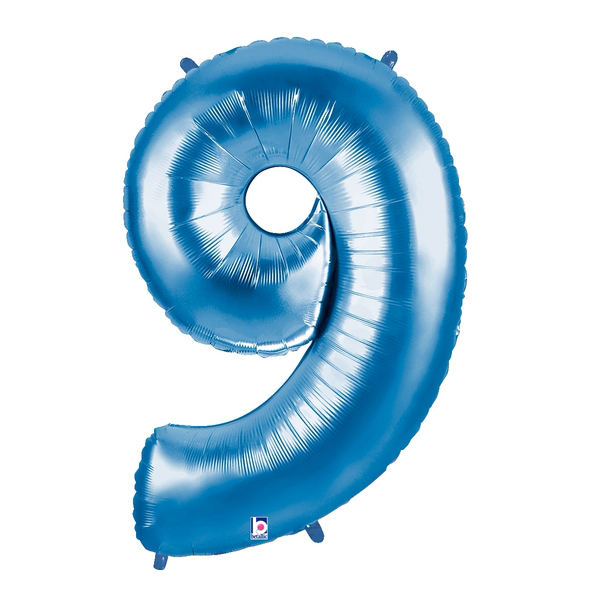 Blue Number 9 Megaloon Balloon Numbers