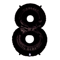 Black Number 8 Megaloon Balloon Numbers
