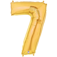 Gold Number 7 Foil Balloon Letters