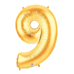 Gold Number 9 Foil Balloon Letters