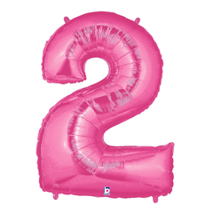 Pink Number 2 Megaloon Balloon Numbers