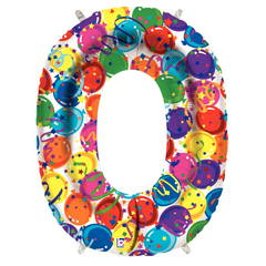 Number 0 Party Time Megaloon Balloon Numbers