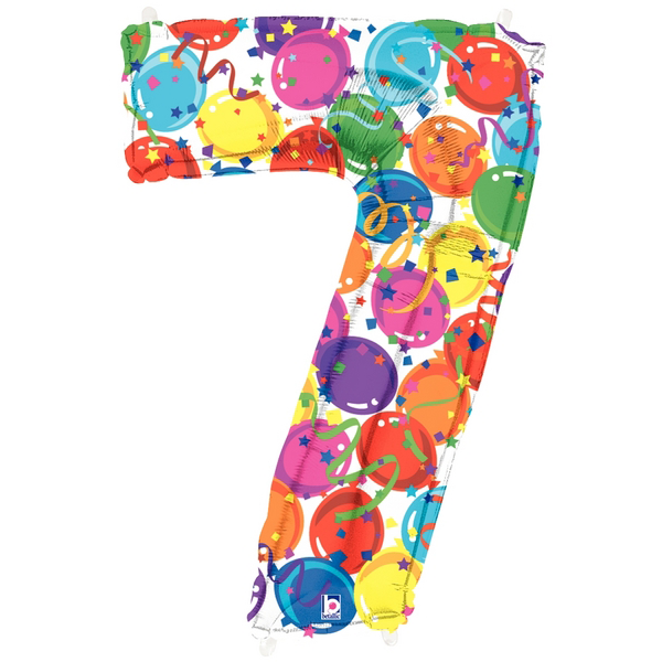 Number 7 Party Time Megaloon Balloon Numbers