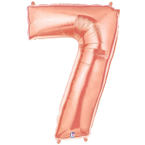 Rose Gold Number 7 Megaloon Balloon Numbers