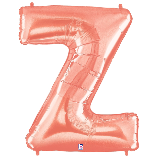 Rose Gold Letter Z Foil Balloon Letters