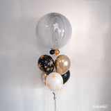 SuperAgates Black & White 3ft. Round Balloon Bundle