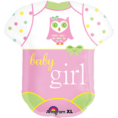 Baby Girl Bodysuit Balloon