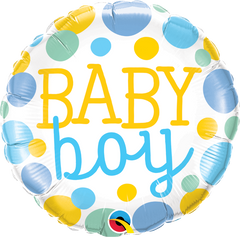 Baby Boy Dots Balloon
