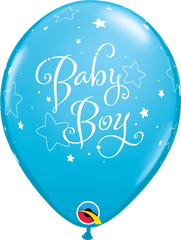 "Baby Boy Stars Fashion Robin's Egg Blue 11"" Balloons"
