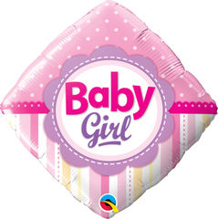 Baby Girl Dots & Stripes Balloon