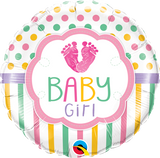 Baby Girl Feet Balloon