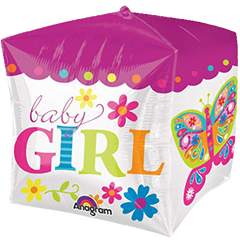 Baby Girl Cube Balloon