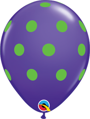"Big Colorful  Polka Dots Fashion Purple Violet 11"" Balloons"