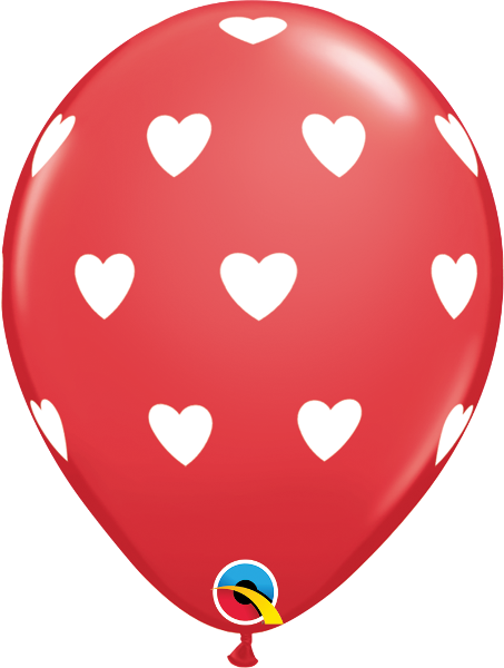 "Big Hearts Red 11"" Balloons"