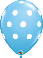 "Big Polka Dots Pale Blue 11"" Balloons"