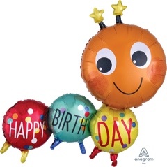 Birthday Bug Supershape Balloon