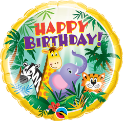 Birthday Jungle Friends Balloon