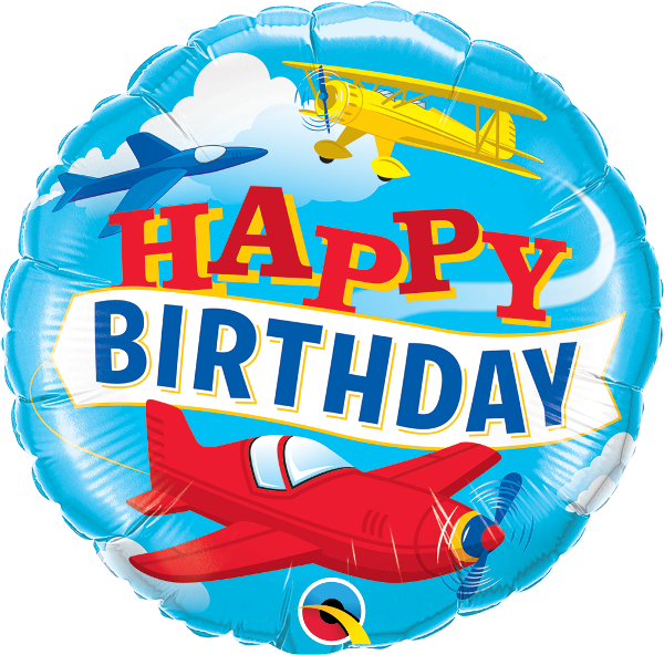 Happy Birthday Airplane Balloon