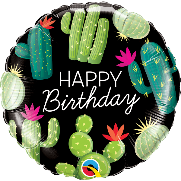 Birthday Cactus Foil Balloon
