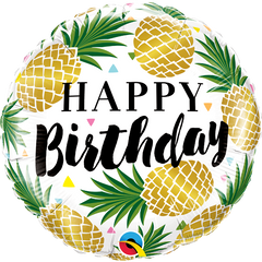 Golden Pineapple Birthday Foil Balloon