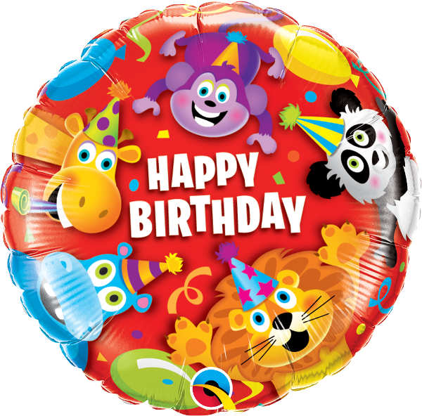 Happy Birthday Party Animal Balloon