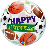 Birthday Sports Ball Bubble Balloon