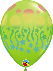 "Birthday Spray Fashion Lime Green 11"" Balloons"