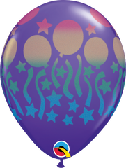 "Birthday Spray Fashion Purple Violet 11"" Balloons"