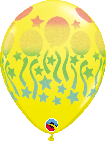 "Birthday Spray Yellow 11"" Balloons"