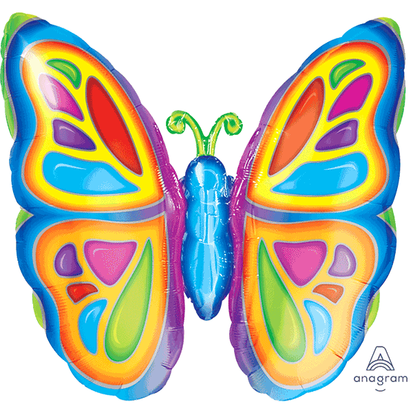 Bright Butterfly Supershape Balloon