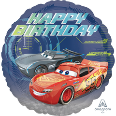 Cars 3 Happy Birthday Lightning Foil Balloon