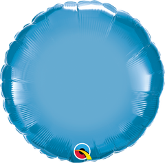 "18"" Chrome Blue Circular Foil Balloon"