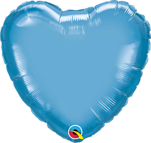 "18"" Chrome Blue Heart Foil Balloon"