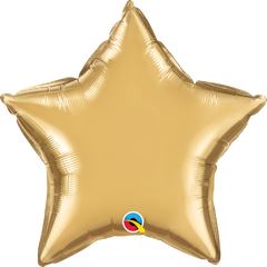"20"" Chrome Gold Star Foil Balloon"
