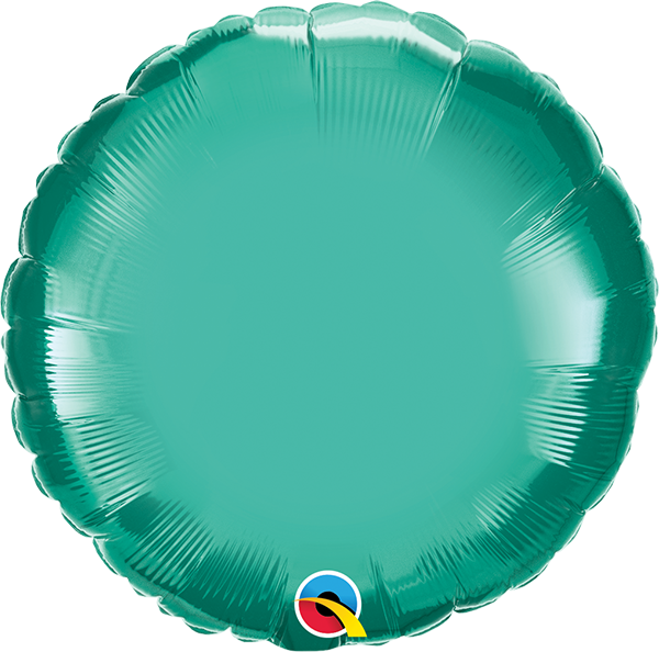 "18"" Chrome Green Circular Foil Balloon"
