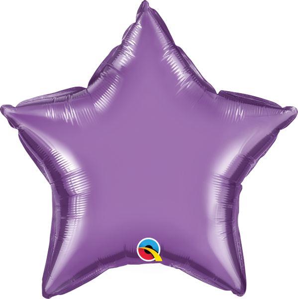 "20"" Chrome Purple Star Foil Balloon"
