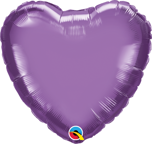 "18"" Chrome Purple Heart Foil Balloon"